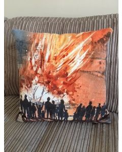 Village Bonfire Cushion