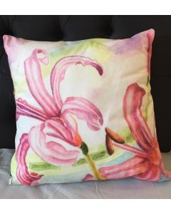 Pink Lillies Cushion