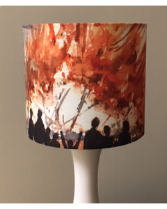Village Bonfire Lampshade